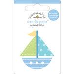 Doodlebug Design - Doodle-Pops - 3 Dimensional Cardstock Stickers - Set Sail