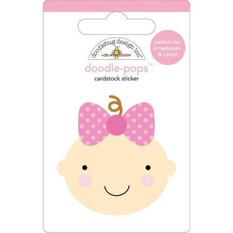 Doodlebug Design - Doodle-Pops - 3 Dimensional Cardstock Stickers - Baby Girl