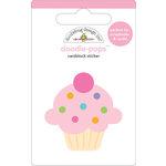 Doodlebug Design - Doodle-Pops - 3 Dimensional Cardstock Stickers - Cuppy Cake