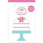 Doodlebug Design - Doodle-Pops - 3 Dimensional Cardstock Stickers - Sweet Cake