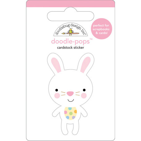 Doodlebug Design - Doodle-Pops - 3 Dimensional Cardstock Stickers - Honey Bunny
