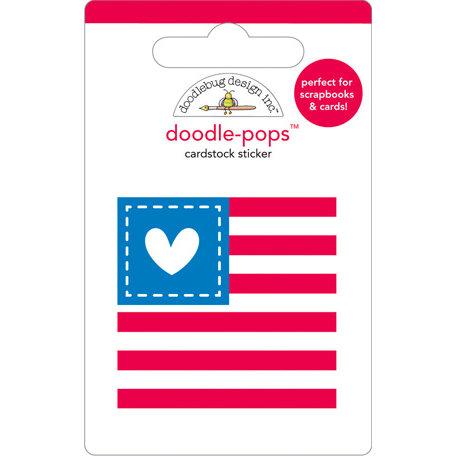 Doodlebug Design - Doodle-Pops - 3 Dimensional Cardstock Stickers - Red, White and Blue