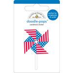 Doodlebug Design - Doodle-Pops - 3 Dimensional Cardstock Stickers - Pinwheel
