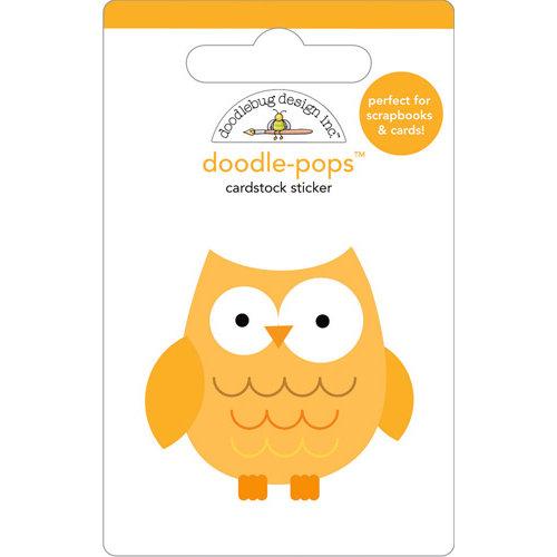 Doodlebug Design - Doodle-Pops - 3 Dimensional Cardstock Stickers - Hootie