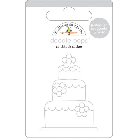 Doodlebug Design - Doodle-Pops - 3 Dimensional Cardstock Stickers - Wedding Cake