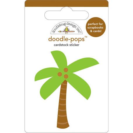 Doodlebug Design - Doodle-Pops - 3 Dimensional Cardstock Stickers - Paradise