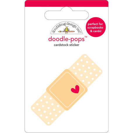 Doodlebug Design - Doodle-Pops - 3 Dimensional Cardstock Stickers - Boo Boo