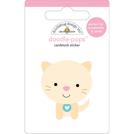 Doodlebug Design - Doodle-Pops - 3 Dimensional Cardstock Stickers - Kitty