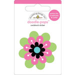 Doodlebug Design - Doodle-Pops - 3 Dimensional Cardstock Stickers - Pretty Posie