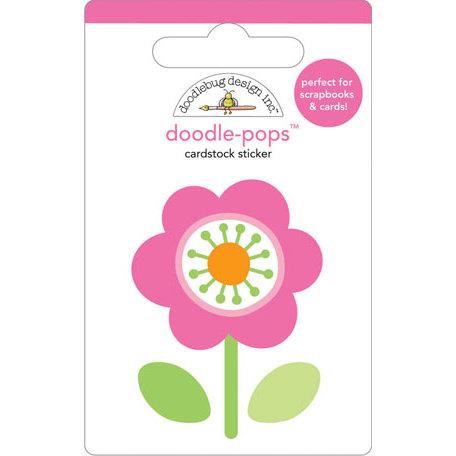 Doodlebug Design - Doodle-Pops - 3 Dimensional Cardstock Stickers - Pink Posie