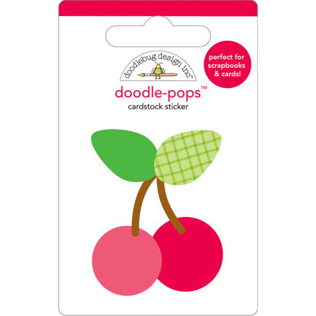 Doodlebug Design - Doodle-Pops - 3 Dimensional Cardstock Stickers - Cherries