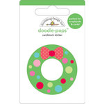Doodlebug Design - Doodle-Pops - Christmas - 3 Dimensional Cardstock Stickers - Wreath