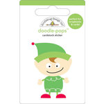 Doodlebug Design - Doodle-Pops - Christmas - 3 Dimensional Cardstock Stickers - Little Helper