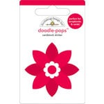 Doodlebug Design - Doodle-Pops - Christmas - 3 Dimensional Cardstock Stickers - Poinsettia