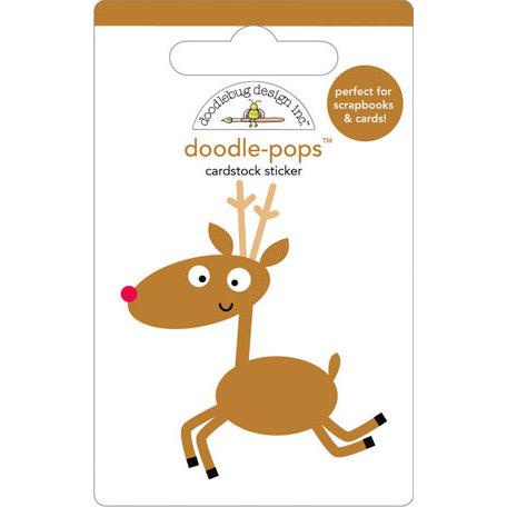 Doodlebug Design - Doodle-Pops - Christmas - 3 Dimensional Cardstock Stickers - Rudy