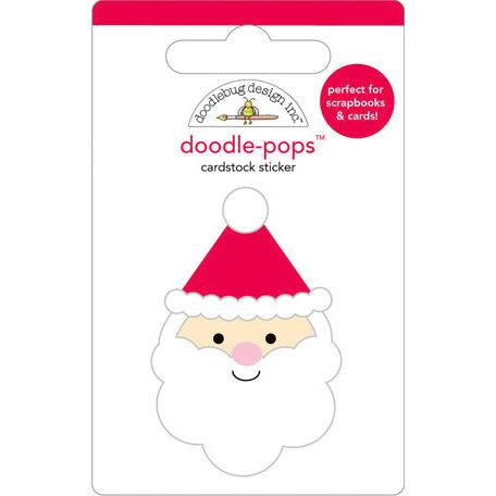 Doodlebug Design - Doodle-Pops - Christmas - 3 Dimensional Cardstock Stickers - Santa
