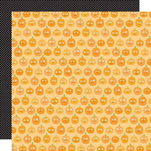 Doodlebug Design - Monster Mania Collection - Halloween - 12 x 12 Double Sided Paper - Pumpkin Patch