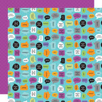 Doodlebug Design - Monster Mania Collection - Halloween - 12 x 12 Double Sided Paper - Monster Chat