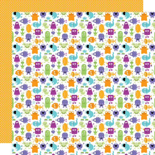 Doodlebug Design - Monster Mania Collection - Halloween - 12 x 12 Double Sided Paper - Monster Mania