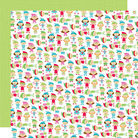 Doodlebug Design - Santa's Workshop Collection - Christmas - 12 x 12 Double Sided Paper - Little Helpers