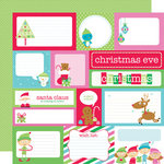 Doodlebug Design - Santa's Workshop Collection - Christmas - 12 x 12 Double Sided Paper - Santa's Workshop Assorted Cut-Outs