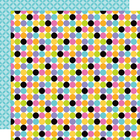 Doodlebug Design - Colorwheel Collection - 12 x 12 Double Sided Paper - Connect the Dots