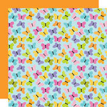 Doodlebug Design - Colorwheel Collection - 12 x 12 Double Sided Paper - Social Butterfly