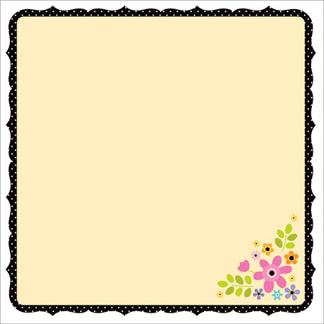 Doodlebug Design - Colorwheel Collection - 12 x 12 Die Cut Paper - Colorwheel Doodle