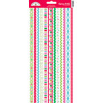 Doodlebug Design - Santa's Workshop Collection - Christmas - Sugar Coated Cardstock Stickers - Fancy Frills