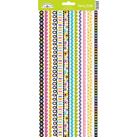 Doodlebug Design - Colorwheel Collection - Sugar Coated Cardstock Stickers - Fancy Frills