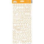 Doodlebug Design - Alphabet Cardstock Stickers - Doodle Twine - Tangerine