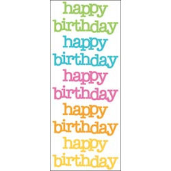 Doodlebug Design - Doodles - Cardstock Stickers - Happy Birthday - Multicolor