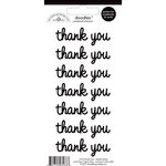 Doodlebug Design - Doodles - Cardstock Stickers - Thank You - Beetle Black