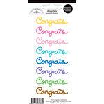 Doodlebug Design - Doodles - Cardstock Stickers - Congrats - Multicolor
