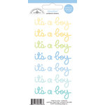 Doodlebug Design - Doodles - Cardstock Stickers - It's a Boy - Multicolor
