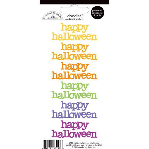 Doodlebug Design - Doodles - Cardstock Stickers - Happy Halloween - Multicolor