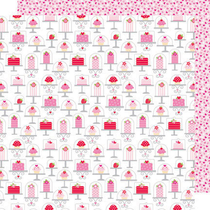 Doodlebug Design - Sweet Cakes Collection - 12 x 12 Double Sided Paper - Sweet Cakes