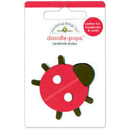 Doodlebug Design - Sweet Cakes Collection - Doodle-Pops - 3 Dimensional Cardstock Stickers - Little Lady