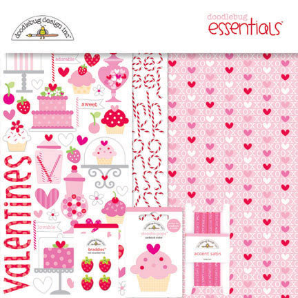 Doodlebug Design - Sweet Cakes Collection - Essentials Kit