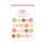Doodlebug Design - Sugar and Spice Collection - Boutique Buttons - Assorted Buttons - Baby Girl