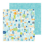 Doodlebug Design - Boys Only Collection - 12 x 12 Double Sided Paper - Digits