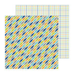 Doodlebug Design - Boys Only Collection - 12 x 12 Double Sided Paper - Decked Out