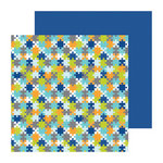Doodlebug Design - Boys Only Collection - 12 x 12 Double Sided Paper - Puzzling Pieces