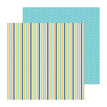 Doodlebug Design - Boys Only Collection - 12 x 12 Double Sided Paper - Skater Stripe