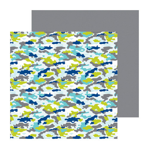 Doodlebug Design - Boys Only Collection - 12 x 12 Double Sided Paper - Cool Camo