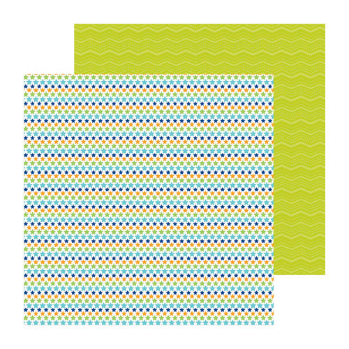 Doodlebug Design - Boys Only Collection - 12 x 12 Double Sided Paper - Superstar