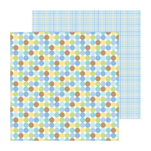 Doodlebug Design - Snips and Snails Collection - 12 x 12 Double Sided Paper - Little Boy Blue