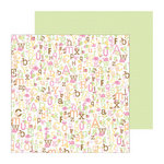 Doodlebug Design - Sugar and Spice Collection - 12 x 12 Double Sided Paper - Alphababies Girl