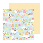 Doodlebug Design - Sugar and Spice Collection - 12 x 12 Double Sided Paper - Hangin Out Girl