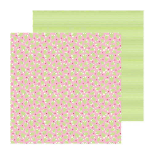 Doodlebug Design - Sugar and Spice Collection - 12 x 12 Double Sided Paper - Leapfrogs